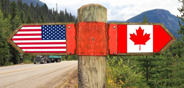 us canada flags